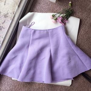 Honey Punch lilac circle skirt.